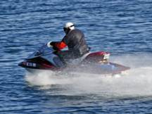 Personal watercraft speeding in reserve
