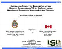 LGL report sea lion impact DND